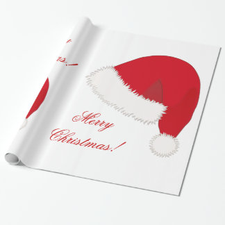 Christmas Wrapping Paper With Santa Hat