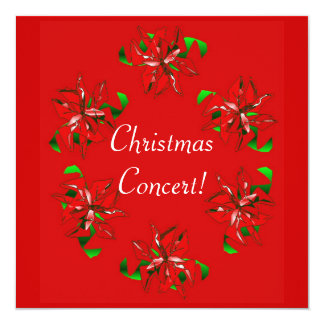 Christmas Wreath 13 Cm X 13 Cm Square Invitation Card