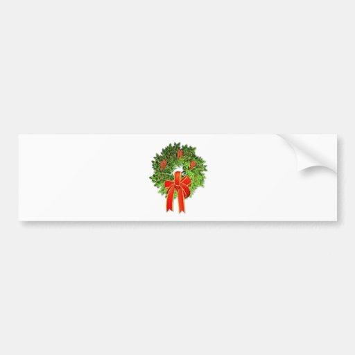Christmas Wreath 1 Bumper Sticker