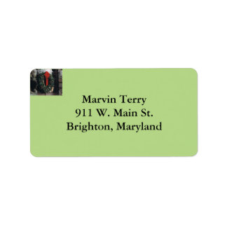 Christmas Wreath Address Labels