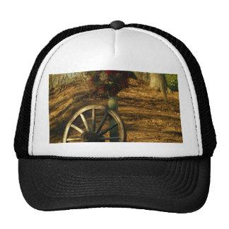 Christmas Wreath and Wagon wheel Trucker Hat