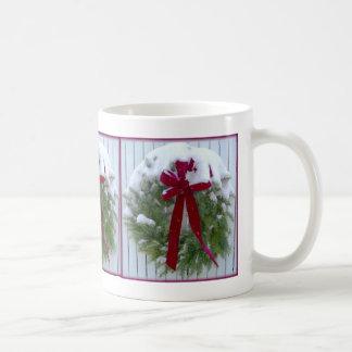 Christmas Wreath Basic White Mug