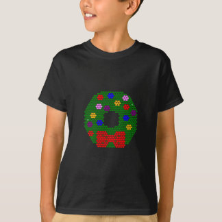 Christmas Wreath Beaded Pattern T-Shirt