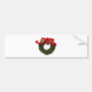 Christmas Wreath Bumper Sticker