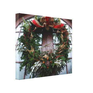 Christmas Wreath Canvas Prints