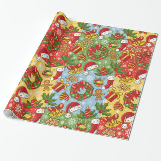 Christmas wreath, Christmas Ornaments, Santa's Hat Wrapping Paper