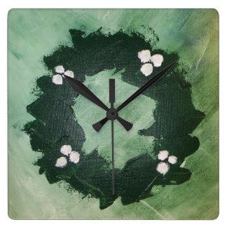 Christmas wreath clock