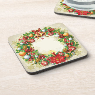 Christmas Wreath Coasters (set of 6)
