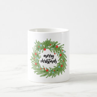 Christmas Wreath Coffee Lover Mug Gift