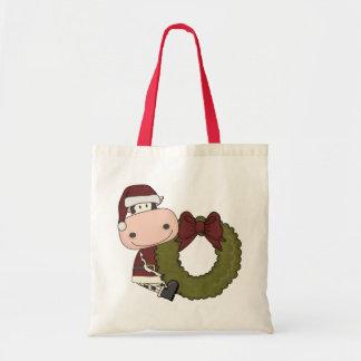 Christmas Wreath Cow Gift Bag