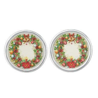 Christmas Wreath Cufflinks