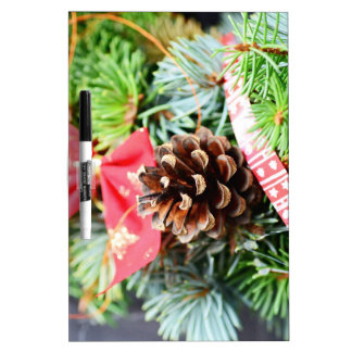 Christmas wreath decoration dry erase whiteboard