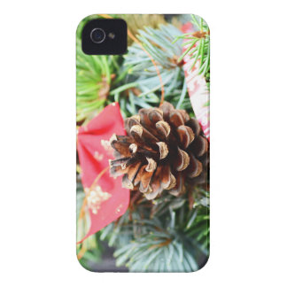 Christmas wreath decoration iPhone 4 covers