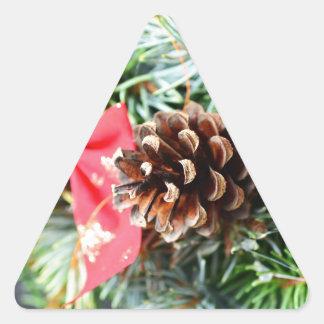 Christmas wreath decoration triangle sticker