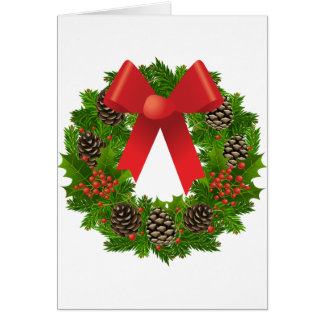Christmas Wreath for the Holidays Greeting Cards