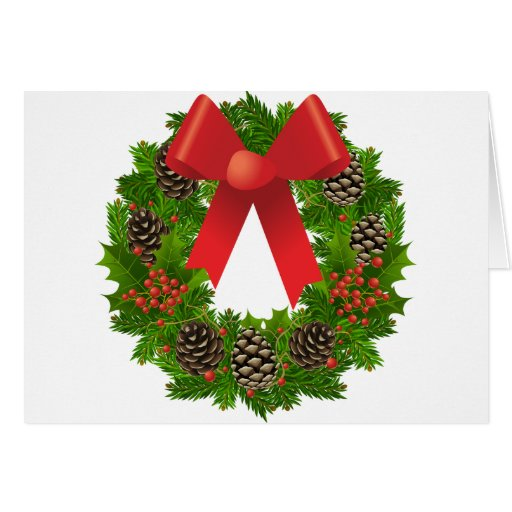 Christmas Wreath for the Holidays Greeting Card