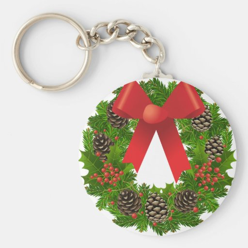 Christmas Wreath for the Holidays Key Chains