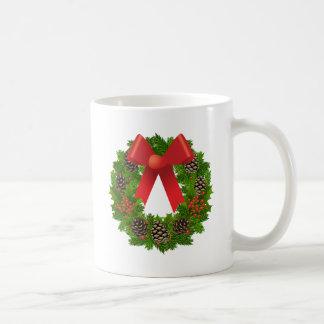 Christmas Wreath for the Holidays Mugs