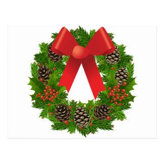 Christmas Wreath for the Holidays Postcard