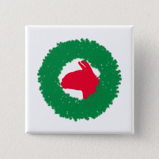 Christmas Wreath & Llama Christmas Card and more 15 Cm Square Badge