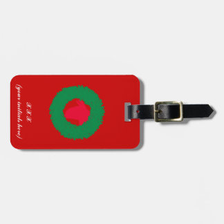 Christmas Wreath & Llama Christmas Card and more Luggage Tag