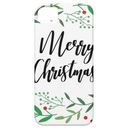 Christmas Wreath, Merry Christmas, Happy Holidays iPhone 5 Cover