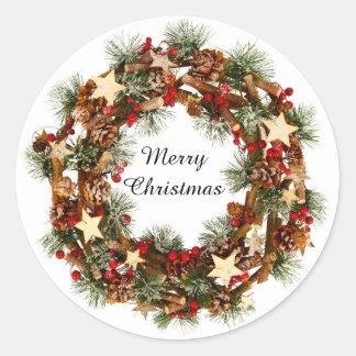 Christmas Wreath, Merry Christmas Sticker