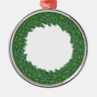 Christmas wreath metal ornament