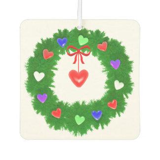 Christmas Wreath of Hearts
