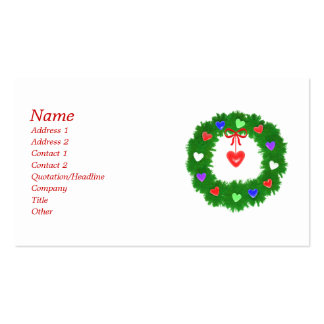 Christmas Wreath of Hearts - Business Pack Of Standard Business Cards