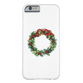 Christmas Wreath of Holly and MIstletoe Barely There iPhone 6 Case