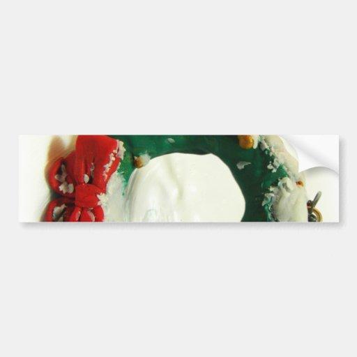 Christmas Wreath Ornament Bumper Stickers