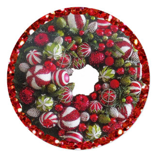 Christmas Wreath Personalized Christmas Cards
