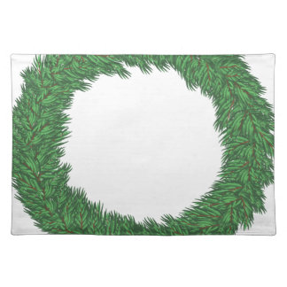 Christmas wreath placemat