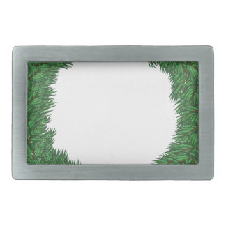 Christmas wreath rectangular belt buckle