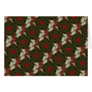 Christmas Wreath Red Green Gold with Red Star Card