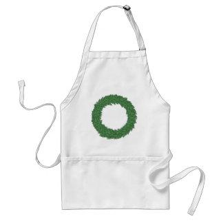 Christmas wreath standard apron
