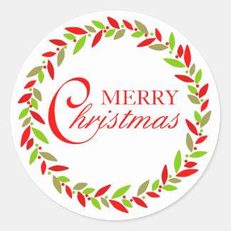 Christmas Wreath Sticker