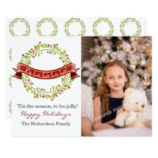 Christmas Wreath Tis The Season Photo Card
