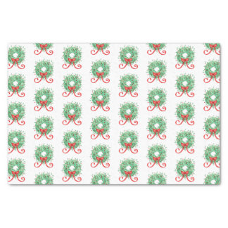 Christmas Wreath Tissue Paper