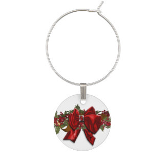 Christmas wreath traditional December July Wine Charm