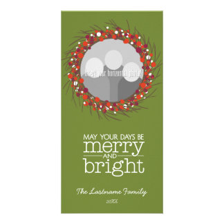 Christmas Wreath - twigs and berries Card
