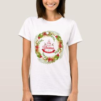 Christmas Wreath with Mistletoe T-Shirt