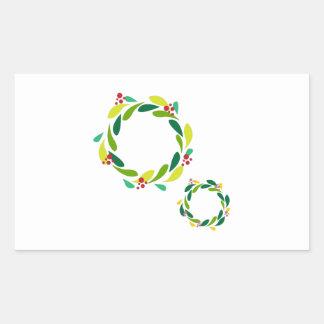 Christmas Wreaths Rectangular Stickers