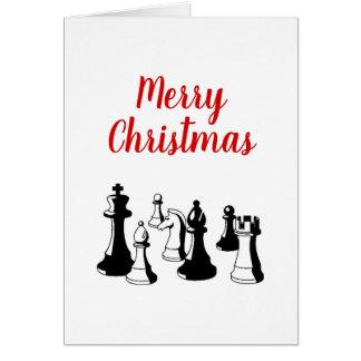 Christmas Xmas - Chess Pieces Vintage Art #2 Card