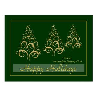 Christmas xmas gold elegant corporate personal hol post card