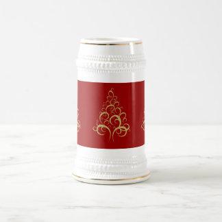Christmas xmas gold elegant tree personal office beer steins