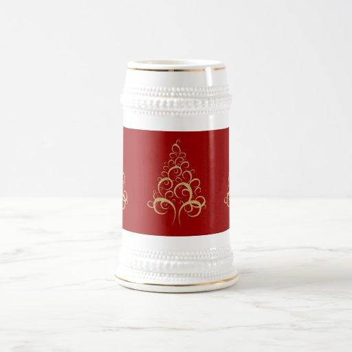 Christmas xmas gold elegant tree personal office mug