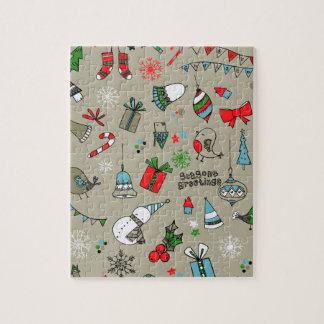 Christmas xmas pattern puzzle