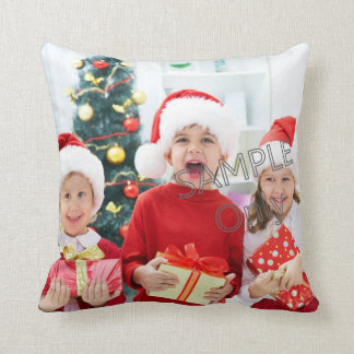 Christmas Xmas Photo Template children or family Throw Pillow